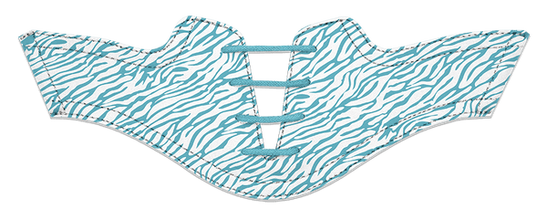 Women's Zebra Turquoise on White Saddles & Laces- Pre-Sale for Delivery September 2018