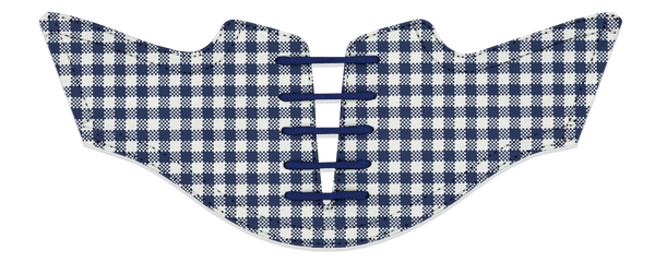 Men's Gingham USA Blue Saddles Flat Saddle View From Jack Grace USA