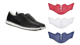 The USA Bundle - Black Shoes with Red, White, and USA Blue Saddles