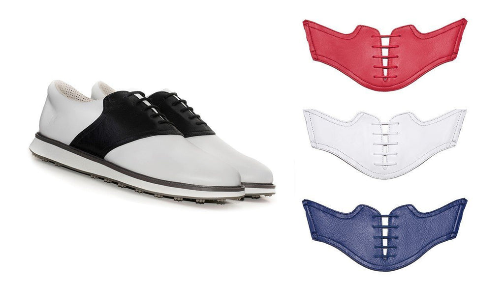 The USA Bundle - White Shoe with Red, White and USA Blue Saddles