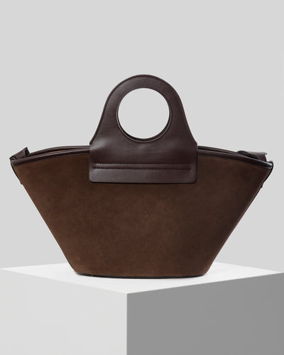 CESTO MIDI - Leather tote bag