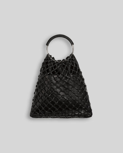 XARXA - Metal handle tote bag