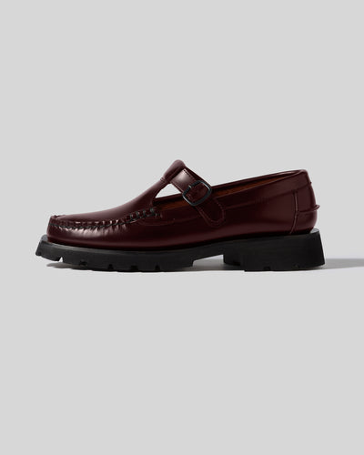 ALBER SPORT  - Tread Sole T-Bar Loafer
