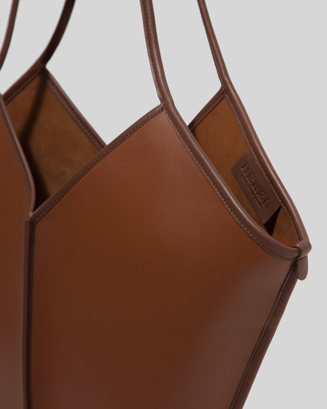 CALELLA - Contrast Binding Leather Tote
