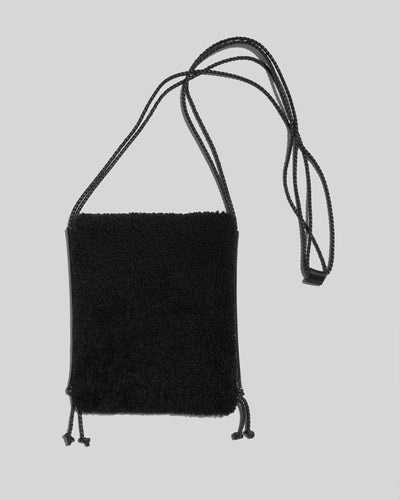 TRENA - Flat Square Shearling Crossbody