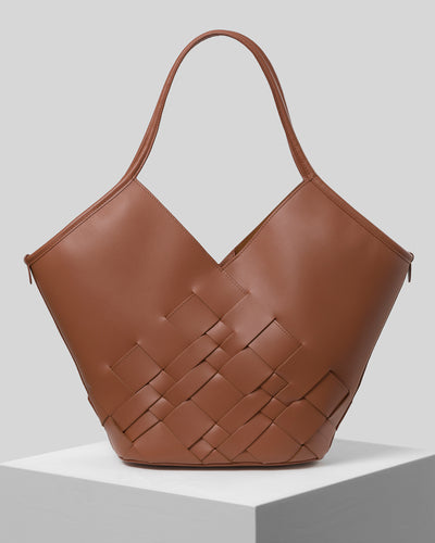 COLOMA - PRE-ORDER - Interwoven Leather Tote