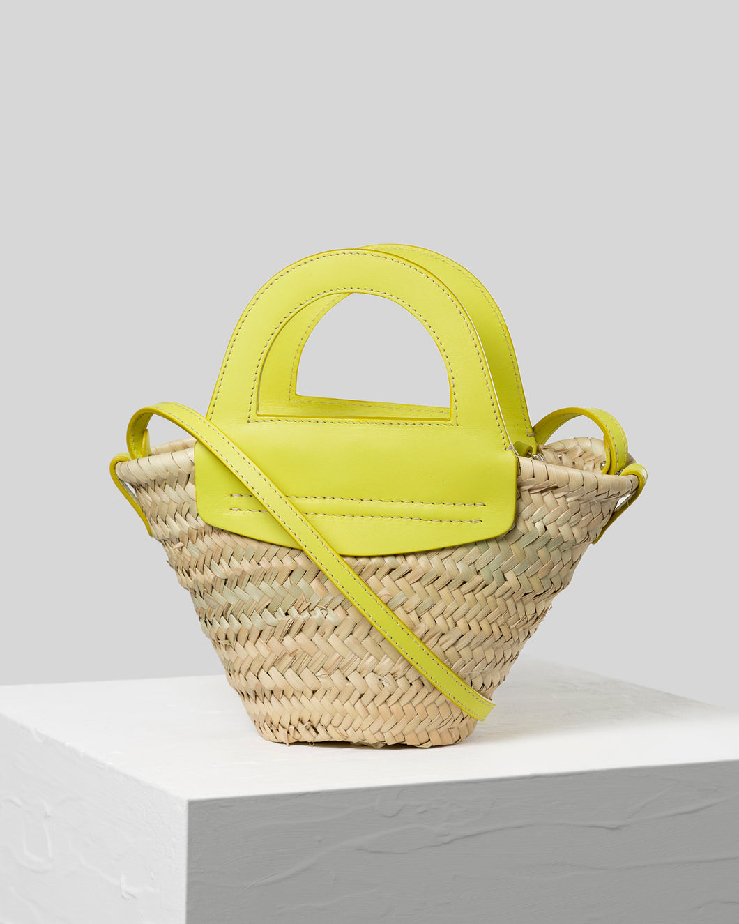 CABAS MINI - Straw tote bag