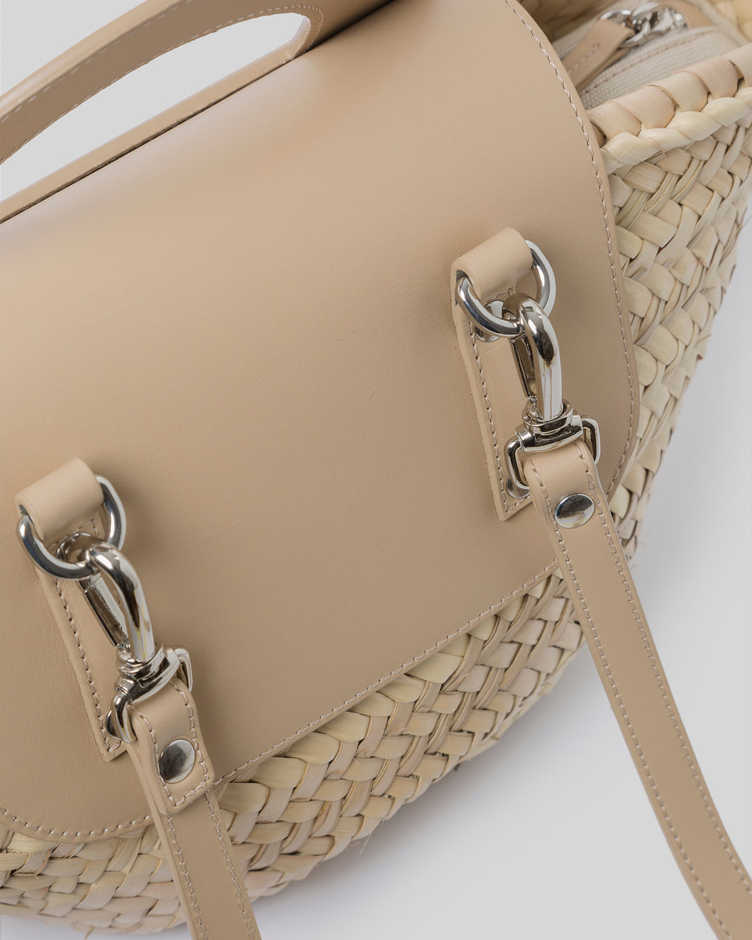 ALQUERIA - Leather-Trimmed Straw Tote