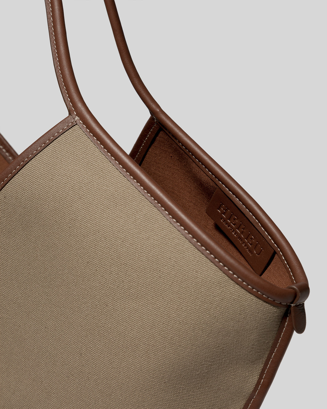 CALELLA - Leather-trimmed Organic Cotton Tote