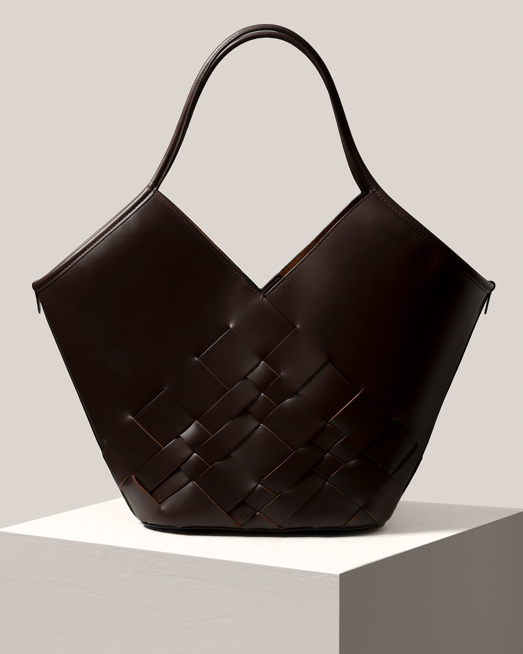 COLOMA - Interwoven Leather Tote