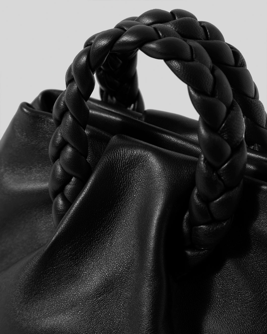 BOMBON - Small Plaited-handle Leather Crossbody