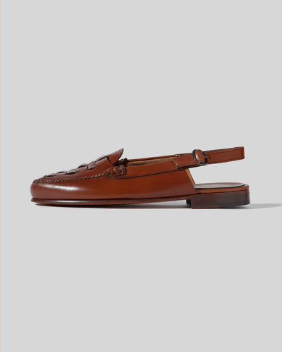 CALETA - Interwoven Slingback Loafer
