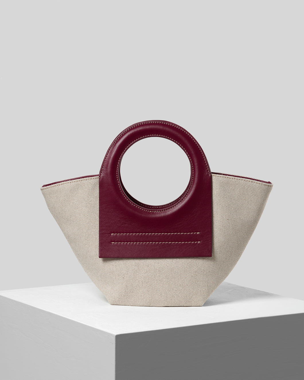 CALA MINI - Mini Canvas-Leather tote