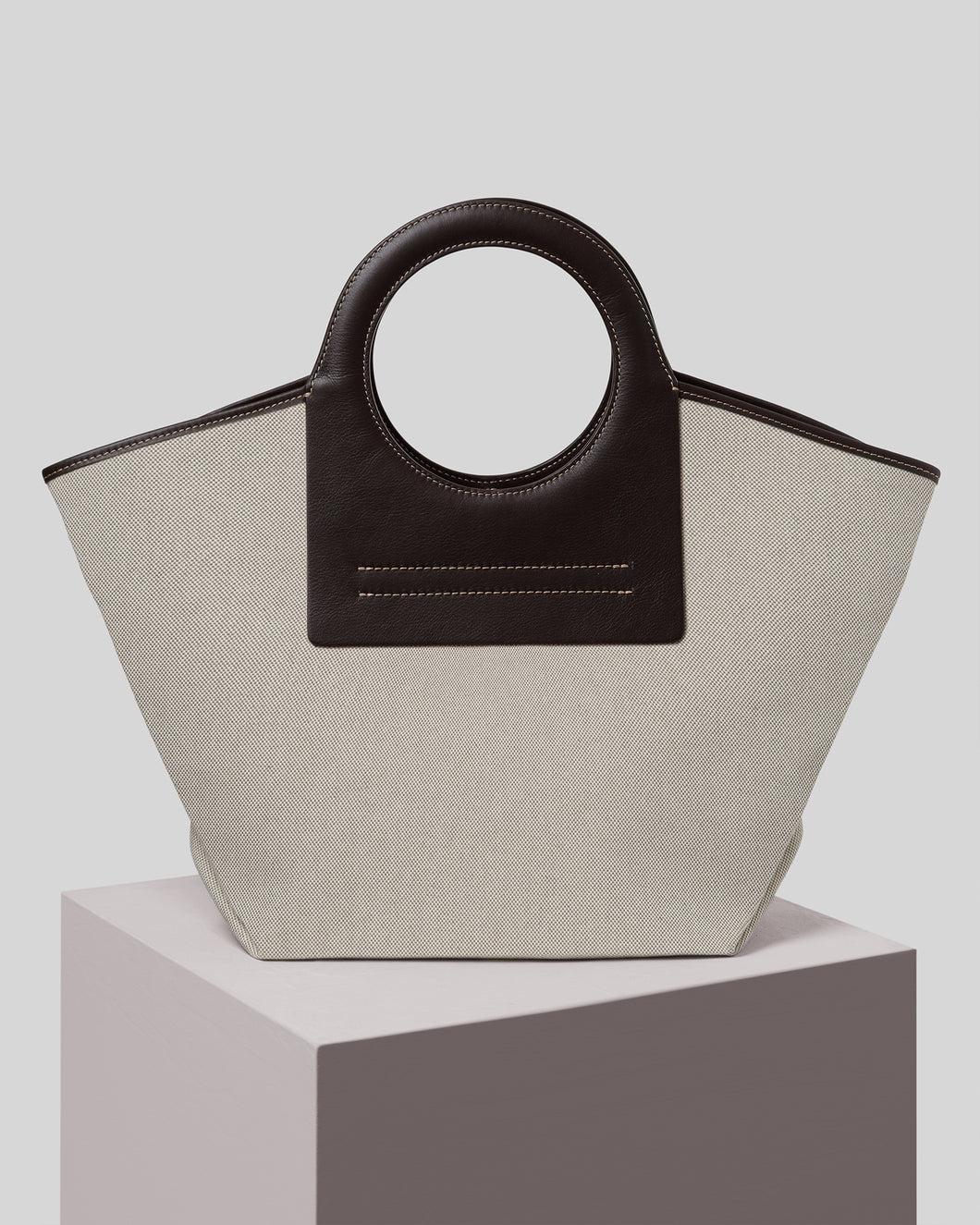 CALA - Midi Leather-trimmed Canvas Tote