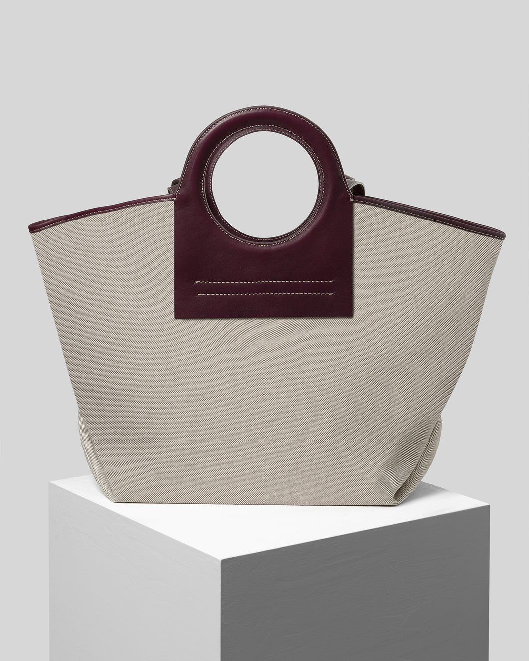 CALA - Large Leather-trimmed Canvas Tote