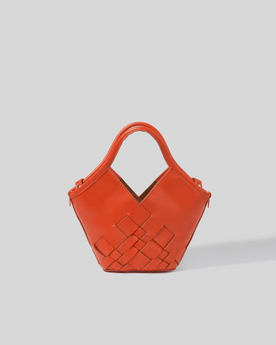 COLOMA MINI - Interwoven leather tote