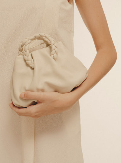BOMBON - Small Plaited Handle Leather Tote
