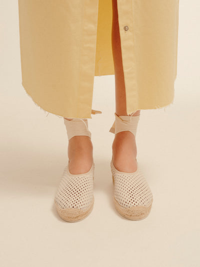 CAPRALA - Perforated High Cut Espadrille