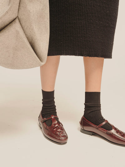 MAQUEDA - PREORDER - Interwoven T-bar Loafer