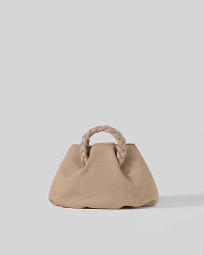 BOMBON - Small Plaited-handle Canvas Crossbody