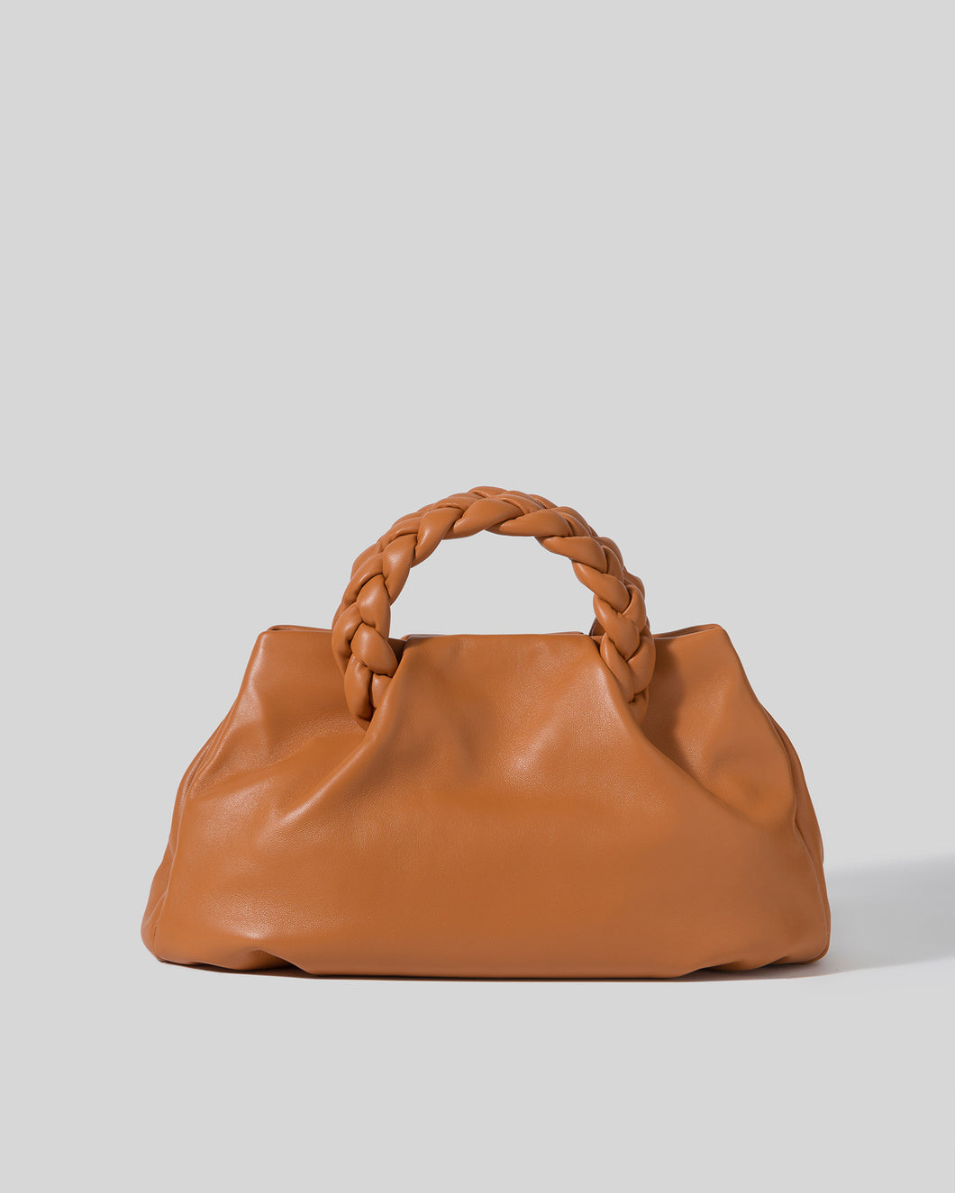BOMBON L -  Plaited-handle Leather Tote