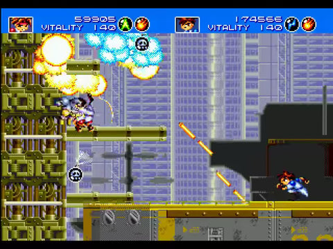 Gunstar Heroes Sega Run and Gun