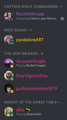 Color Code Discord Server