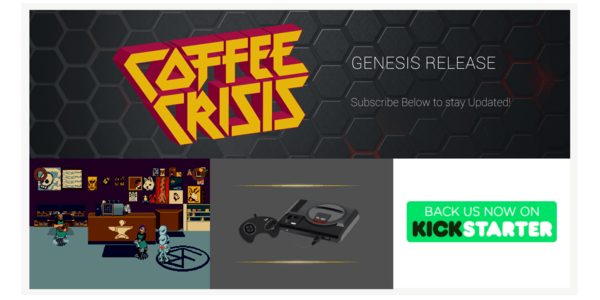 coffee crisis alien attack sega genesis new indie games
