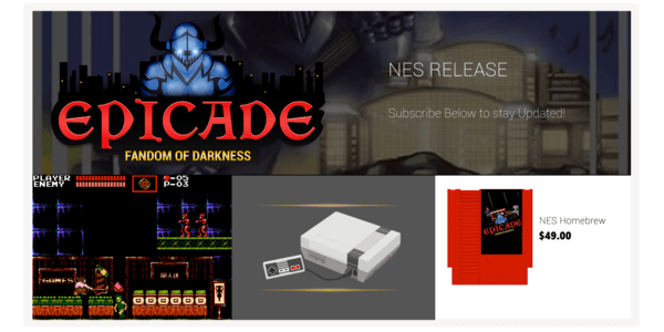 epicade brand new nes nintendo game indie gaming retro gaming