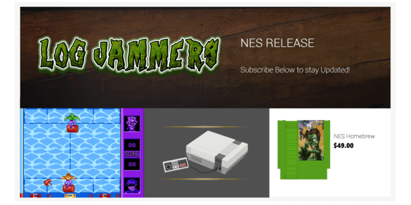 logjammers new nes game released by 8 bit evolution