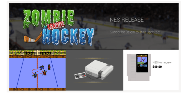 zombie hockey league new nintendo game Mega Cat Studios Indie Game Dev