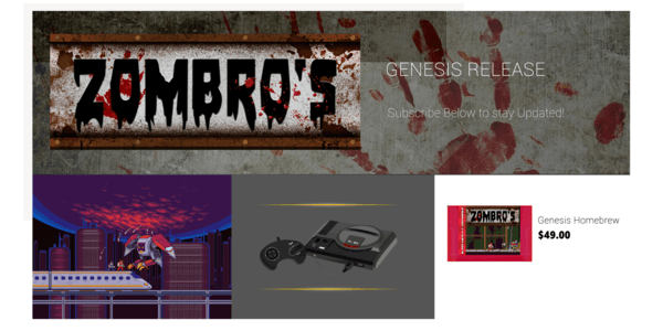zombros sega genesis new game release by Mega Cat Studios Retro Gaming Indie Games