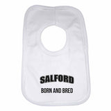 Salford Born and Bred Boys Girls Baby Bibs