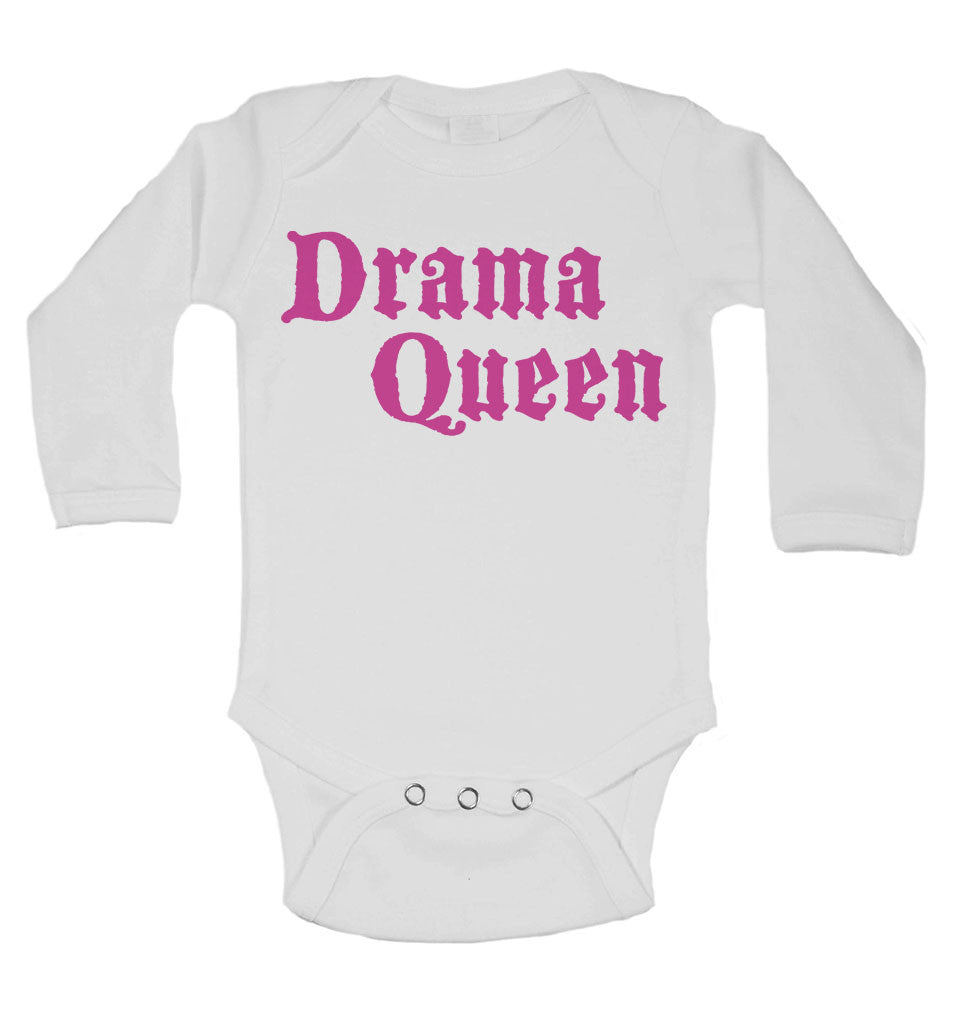 Drama Queen - Long Sleeve Baby Vests for Girls
