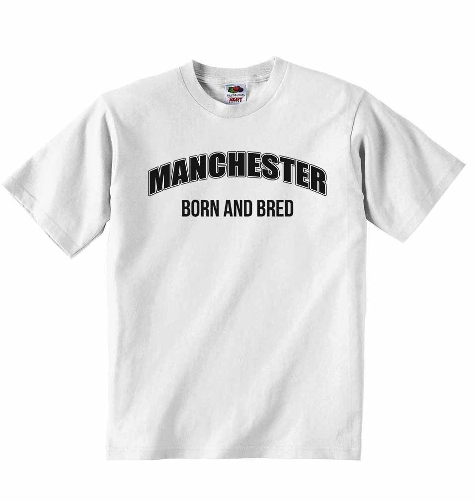 Manchester Born and Bred - Baby T-shirt