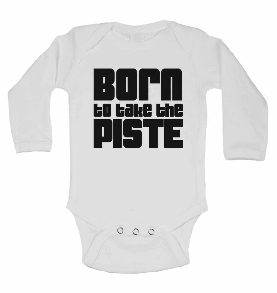 Born to Take the Piste - Long Sleeve Baby Vests