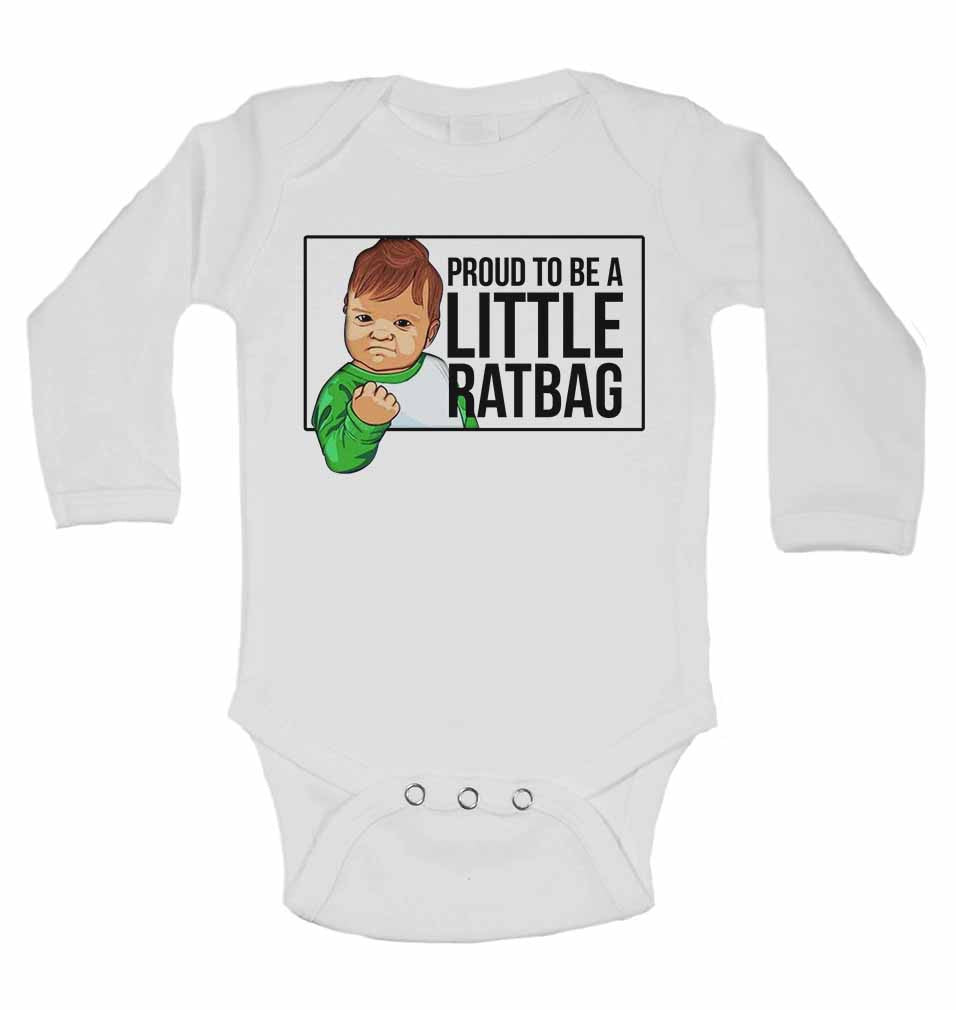 Proud to Be a Little Ratbag - Long Sleeve Baby Vests