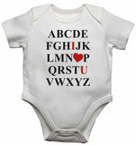 ABCDEFGHIJKLMNOPQRSTUVWXYZ - Baby Vests Bodysuits for Boys, Girls