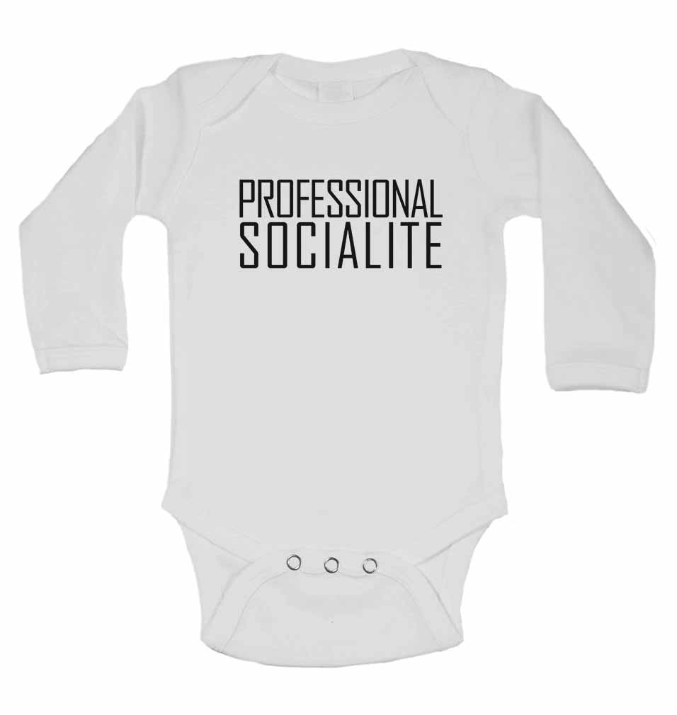 Professional Socialite - Long Sleeve Baby Vests for Boys & Girls