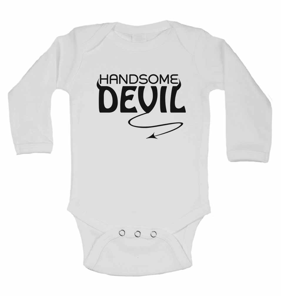 Handsome Devil - Long Sleeve Baby Vests for Boys & Girls