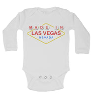 Made In Las Vegas Nevada - Long Sleeve Baby Vests