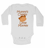 Mummy's Cheeky Little Monkey - Long Sleeve Baby Vests for Boys & Girls