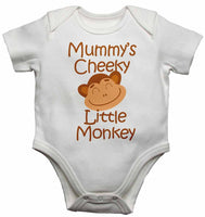 Mummy's Cheeky Little Monkey - Baby Vests Bodysuits for Boys, Girls