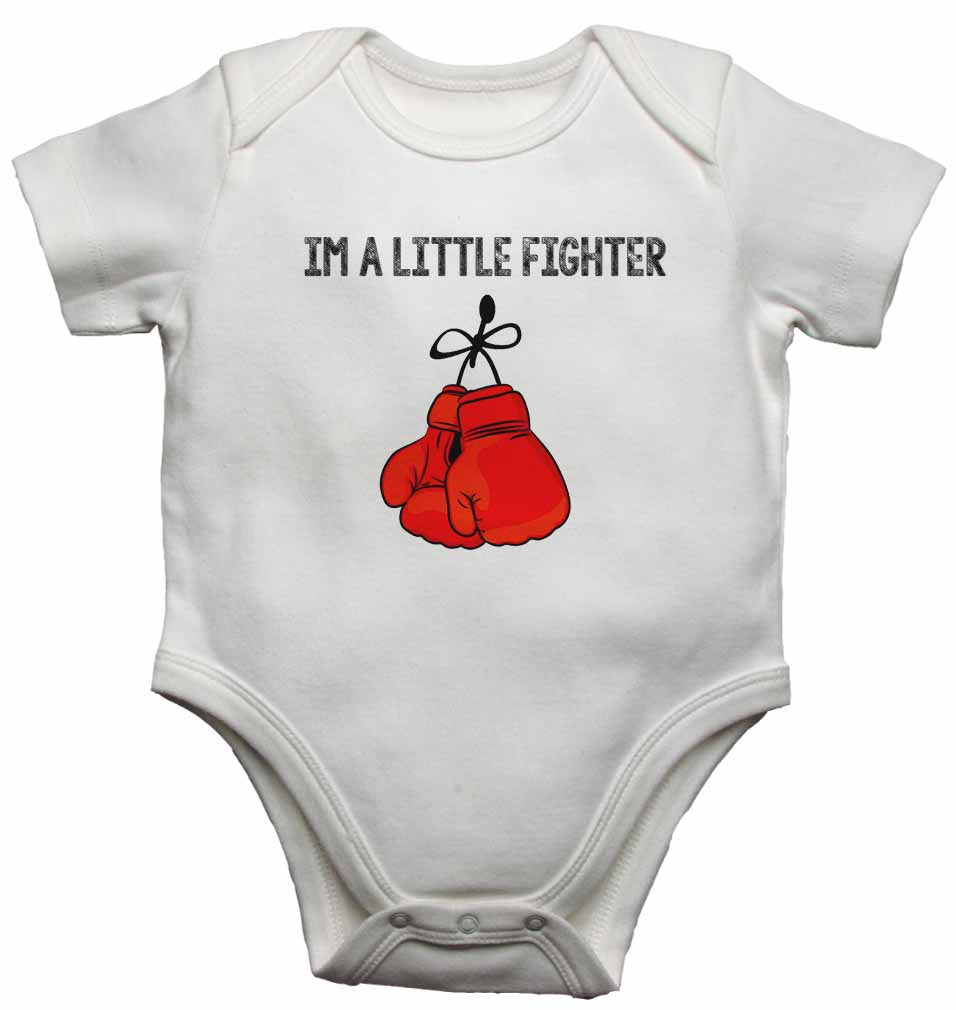 Im a Little Fighter - Baby Vests Bodysuits for Boys, Girls