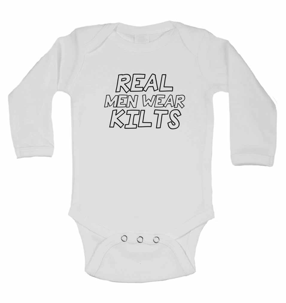 Real Men Wear Kilts - Long Sleeve Baby Vests for Boys & Girls