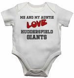 Me and My Auntie Love Huddersfield Giants - Baby Vests Bodysuits for Boys, Girls