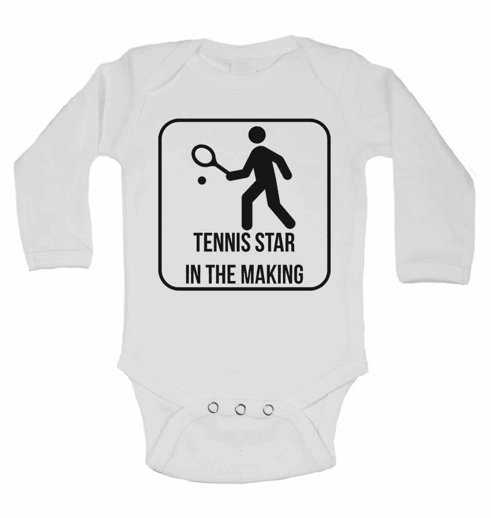 Tennis Star in The Making - Long Sleeve Baby Vests