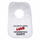 Me and My Auntie Love Huddersfield Giants Boys Girls Baby Bibs