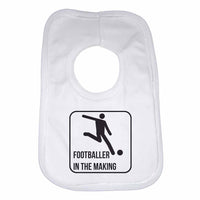 Footballer in The Making Boys Girls Baby Bibs