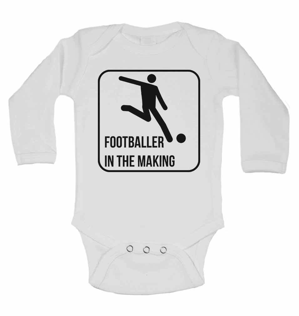 Footballer in The Making - Long Sleeve Baby Vests